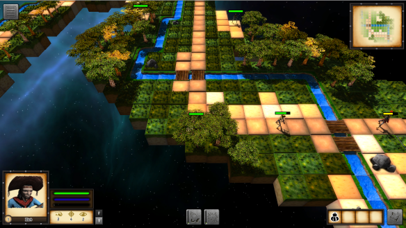 O mapa após ser carregado no Cangaço RPG